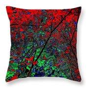 Autumn Red Throw Pillow