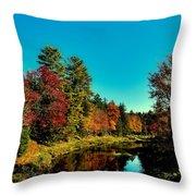Autumn Splendor On The Moose River Throw Pillow