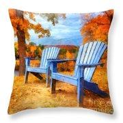 Autumn Splendor Watercolor Throw Pillow