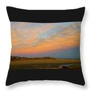 Autumn Sunset At Good Harbor Throw Pillow