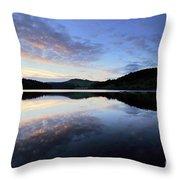Autumn Sunset, Ladybower Reservoir Derwent Valley Derbyshire Throw Pillow