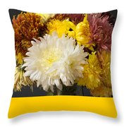 Autumn Yellow Flower Throw Pillow