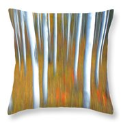 Autumn's Reluctant Departure Throw Pillow