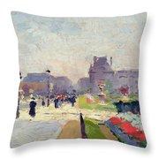 Avenue Paul Deroulede Throw Pillow