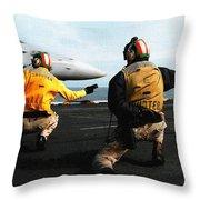 Aviation Art Catus 1 No. 18 H B Throw Pillow