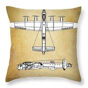 Avro Lancaster Bomber Throw Pillow