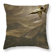 Axalp Airshow Throw Pillow