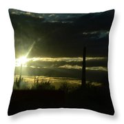 Az Cloudy Sunset Throw Pillow