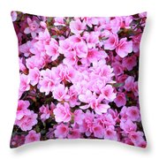 Azalea Flowers Throw Pillow