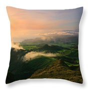 Azores Islands Landscape Throw Pillow