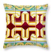Azulejo - Geometrical Decoration  3 Throw Pillow