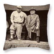 Babe Ruth And John Mcgraw Throw Pillow