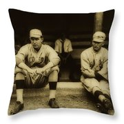 Babe Ruth On Far Left With The Boston Red Sox 1915 Throw Pillow