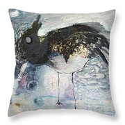 Baby Robin Throw Pillow