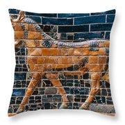 Babylon: Ishtar Gate 600 B.c Throw Pillow
