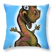 Babyzilla Throw Pillow