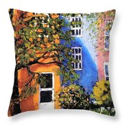 Backyard Throw Pillow