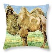 Bactrian Camel, Endangered Species Throw Pillow
