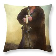 Badger Lv Throw Pillow