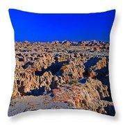 Badlands At Sunset Throw Pillow