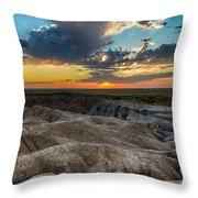 Badlands Np Wilderness Overlook 4 Throw Pillow