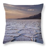 Badwater Salt Flats 1 Throw Pillow