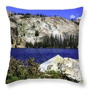 Baker Lake, Idaho Throw Pillow