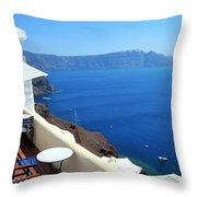 Balcony View Throw Pillow