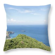 Bali North Coast Throw Pillow