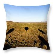 Balloon Shadows Throw Pillow