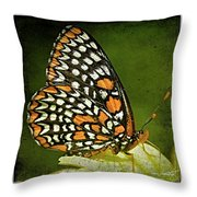 Baltimore Checkerspot Throw Pillow