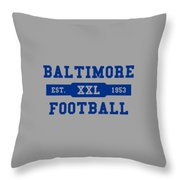 Baltimore Colts Retro Shirt Throw Pillow