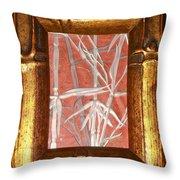 Golden Bamboo Throw Pillow