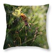 Banana Spider Throw Pillow