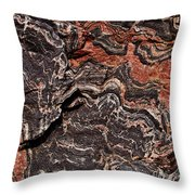 Banded Gneiss Rock Throw Pillow