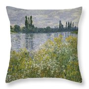Banks Of The Seine Throw Pillow