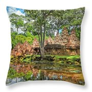 Banteay Srei Temple - Cambodia Throw Pillow