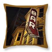 Bar Sign Throw Pillow