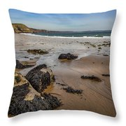 Barafundle Bay Throw Pillow
