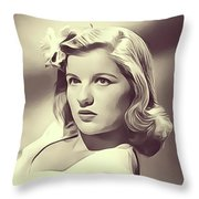 Barbara Bel Geddes, Vintage Actress Throw Pillow