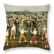 Bare Knuckles Throw Pillow