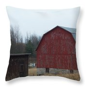 Barn And Shed Throw Pillow