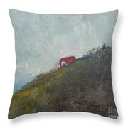 Barn On The Hill Throw Pillow