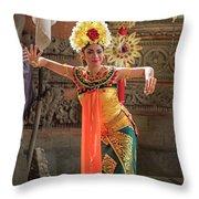 Barong Dancer Throw Pillow