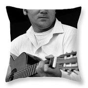 Barry Sadler With Guitar 3 Tucson Arizona 1971 Throw Pillow
