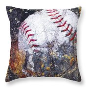 Baseball Art Version 6 Throw Pillow