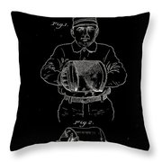 Baseball Glove Patent 1905 Throw Pillow