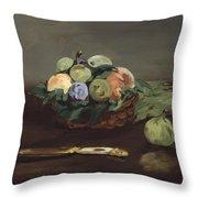 Basket Of Fruit Throw Pillow