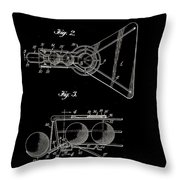 Basketball Practice Device Patent 1960 Part 2 Throw Pillow