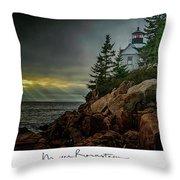 Bass Harbor Light Throw Pillow